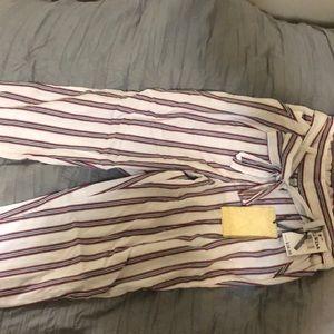 Striped tie pants
